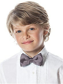 Boy's Clip Bow Tie in Silk Shantung