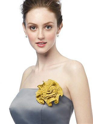 CLOSEOUT - Fortuny Pleated Nu-Georgette Flower http://www.dessy.com/accessories/fortuny-pleated-nu-georgette-flower/