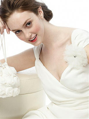 Tulle Flower with Rhinestone Detail http://www.dessy.com/accessories/tulle-flower-w-rhinestone-detail/