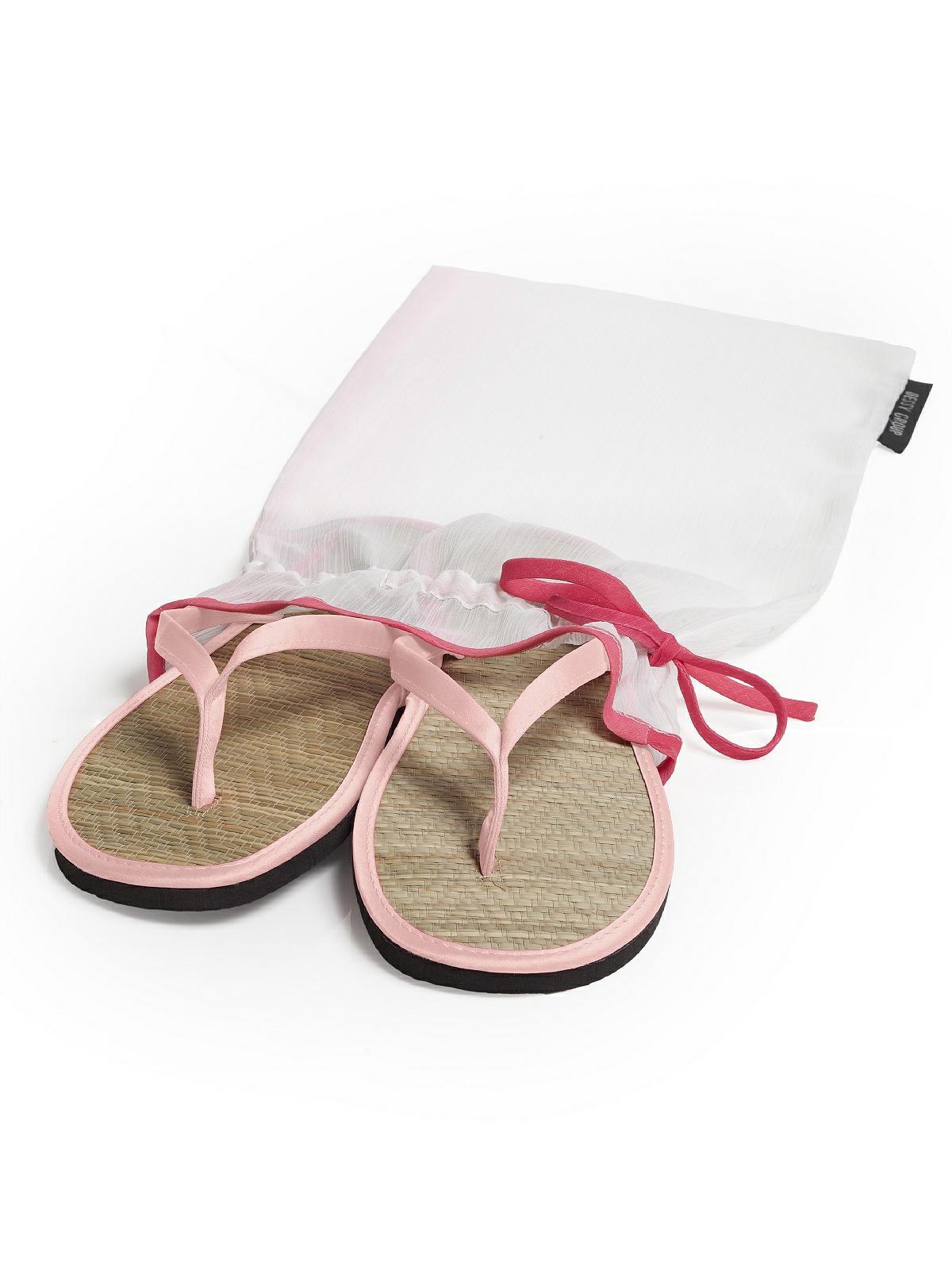 pink satin flip flops
