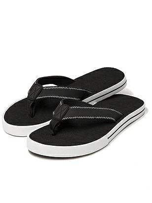 Men's Chuck Taylor Style Flip Flops http://www.dessy.com/accessories/closeout-mens-sneaker-sole-sandal/