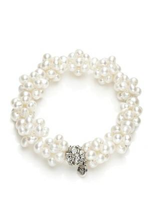 Freshwater Pearl Cluster Bracelet http://www.dessy.com/accessories/freshwater-pearl-cluster-bracelet
