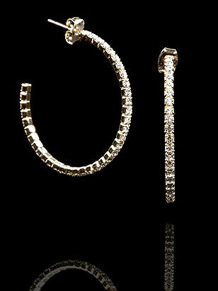 Swarovski Delicate Crystal Hoop Earrings http://www.dessy.com/accessories/swarovski-delicate-crystal-hoop-earrings/