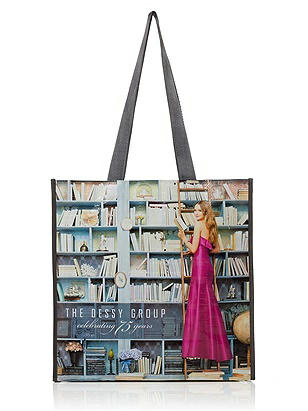 Spring 2012 Eco-Tote http://www.dessy.com/accessories/eco-tote-reusable-shopping-bag/