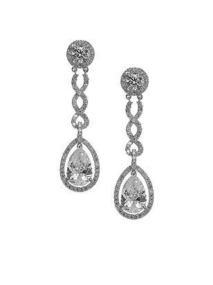 Pear Shaped CZ Estate Earrings http://www.dessy.com/accessories/pear-shaped-cz-estate-earrings/