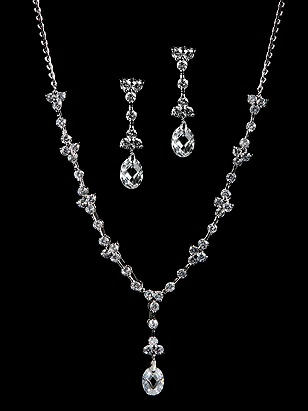 CLOSEOUT - CZ Bridal Set http://www.dessy.com/accessories/cz-bridal-set/