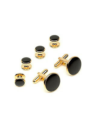 Men's Enamel Inlay Cuff Link and Stud Set http://www.dessy.com/accessories/mens-enamel-inlay-cuff-link-and-stud-set/