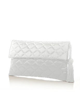 Quilted Envelope Clutch with Tassel Detail http://www.dessy.com/accessories/quilted-envelope-clutch-with-tassel-detail/