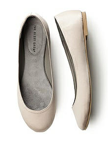 Simple Satin Ballet Flat 