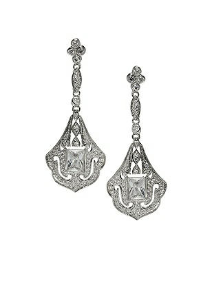 Art Deco Chandelier Earrings http://www.dessy.com/accessories/art-deco-chandelier-earrings/