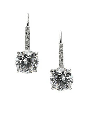 Drop Solitaire Earrings http://www.dessy.com/accessories/cz-solit/