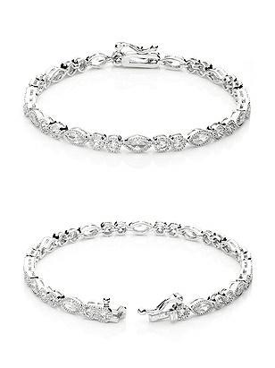 Vintage CZ Tennis Bracelet http://www.dessy.com/accessories/vintage-cz-tennis-bracelet/