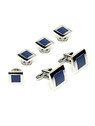 Men's Color Block Studs and Cufflinks http://www.dessy.com/accessories/color-block-studs-cufflink/