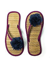 Flower Trimmed Bridesmaid and Bridal Flip Flop