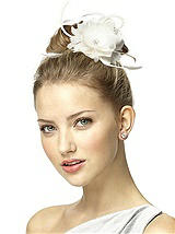 Feather Flower Clip Headpiece