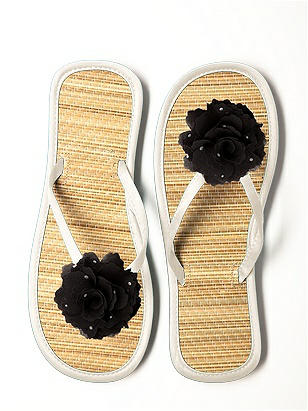 CLOSEOUT - Glimmer Flower Bridesmaid Flip Flop http://www.dessy.com/accessories/glimmer-flower-trimmed-bridesmaid-flip-flop/