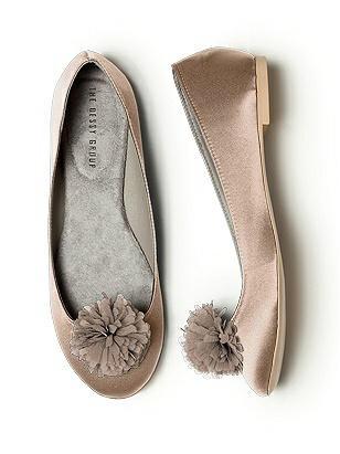 Crinkle Chiffon Flower Pom Pom Shoe Clip http://www.dessy.com/accessories/crinkle-chiffon-flower-pom-pom-shoe-clip/