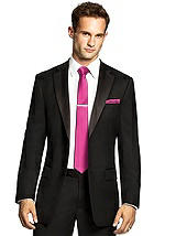 Men's Skinny Tie in Duchess Satin