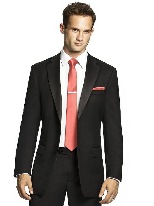 Men S Skinny Tie In Duchess Satin The Dessy Group
