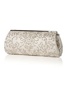 Frost Beaded Satin Bridal Clutch