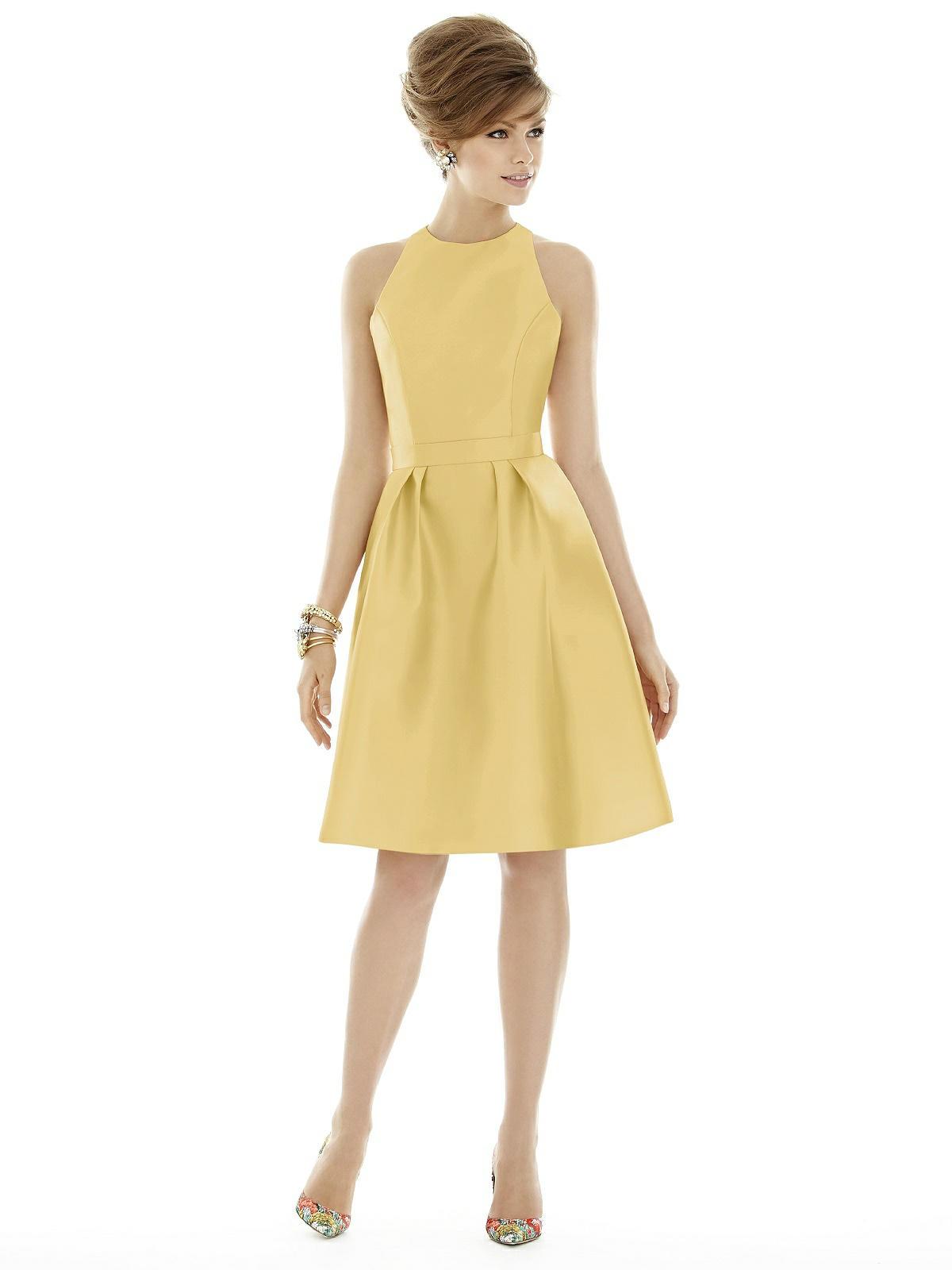 Love pastels how about a lemon yellow wedding theme lemon yellow short bridesmaid dress ombrellifo Images