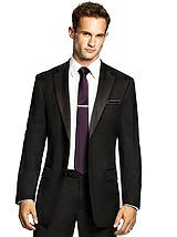Men's Narrow Tie in Duchess Satin