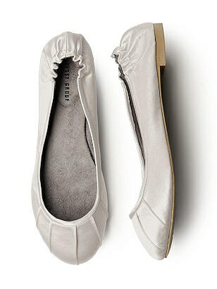 Pleated Satin Ballet Flat http://www.dessy.com/accessories/pleated-satin-ballet-flat/