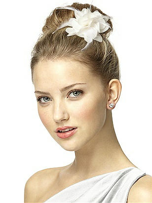 Nu-Georgette and Feather Flower Bridal Hair Clip http://www.dessy.com/accessories/nu-georgette-and-feather-flower-bridal-hair-clip/