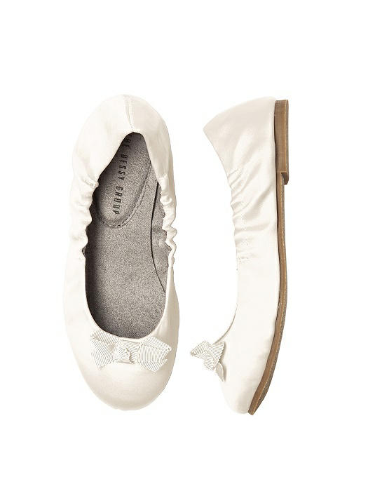 Flower Girl Shoes - Satin Ballet Flat | The Dessy Group