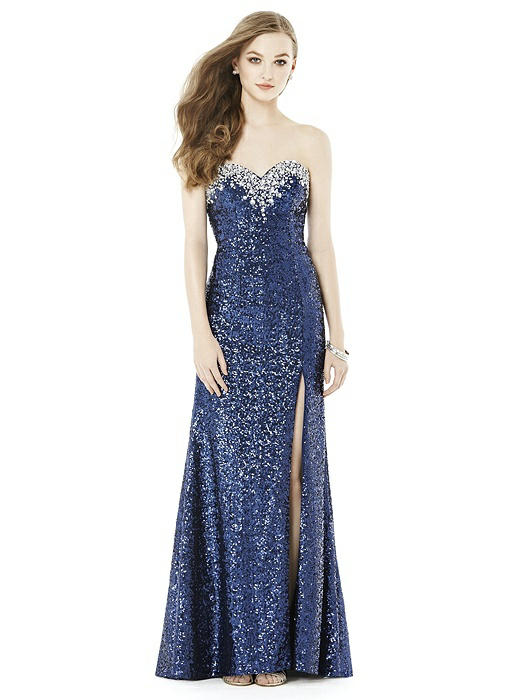 After Six Prom Dress: Keira, Midnight Blue | The Dessy Group