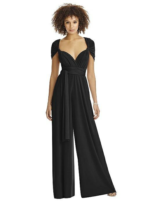 f0cccfb3e9 Bridesmaid jumpsuit twist wrap jumpsuit the dessy group jpg 525x700 Wine  chiffon jumpsuits