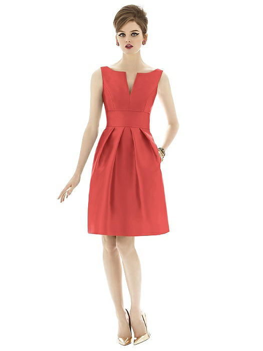 Special Order Alfred Sung coral Bridesmaid Dress