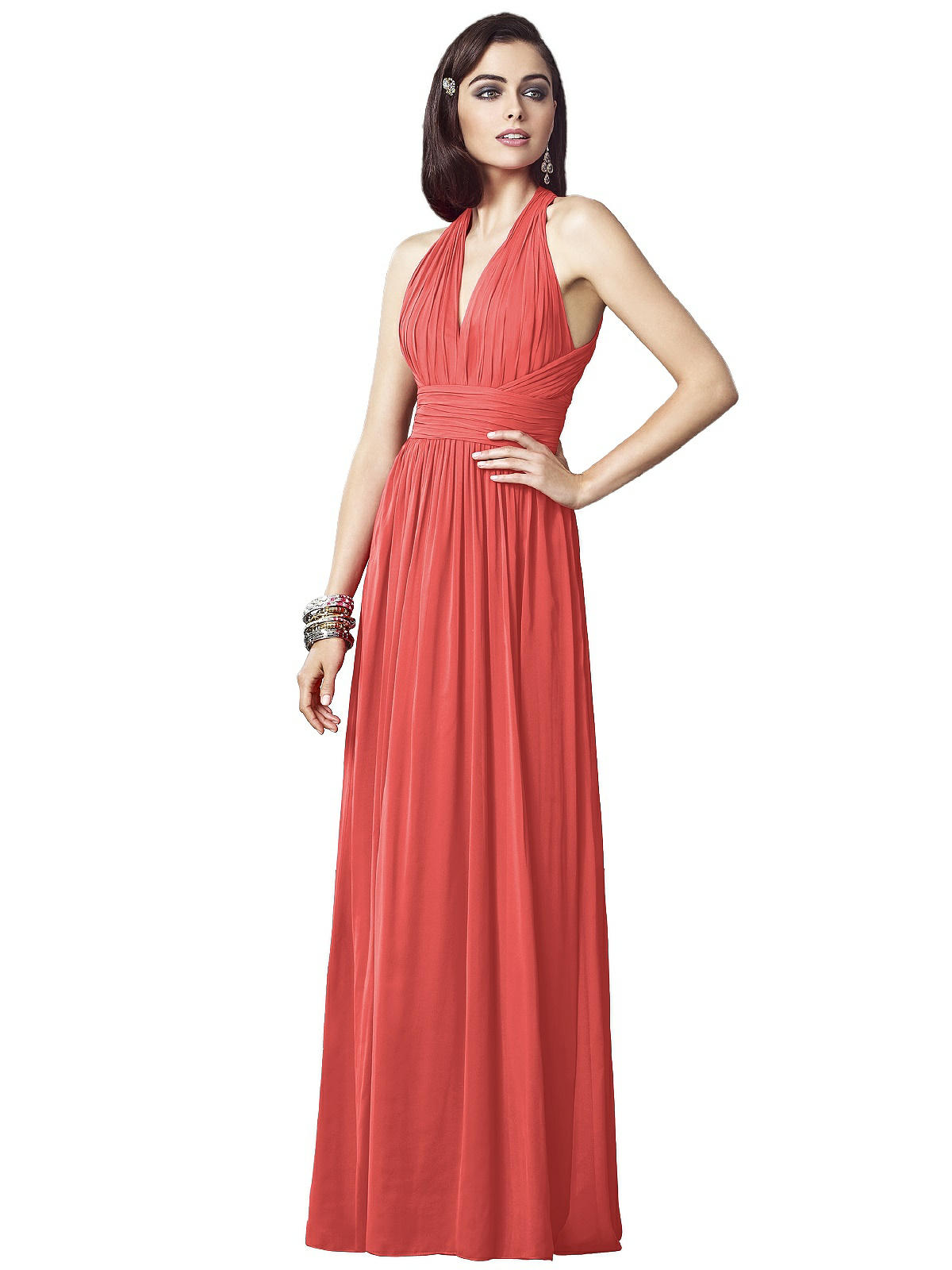 Special Order Dessy Collection coral bridesmaid dresses