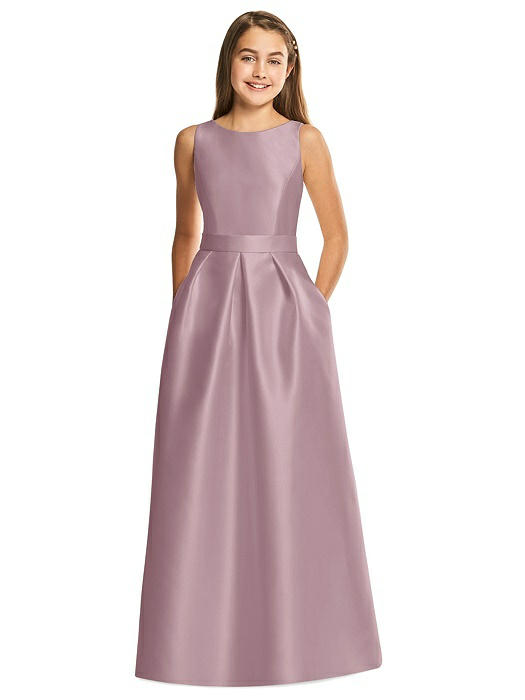Taupe or Champagne Bridesmaid Dresses Junior