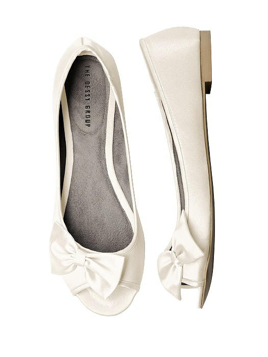 d6565f249471 Satin Peep Toe Bridal Ballet Wedding Flats