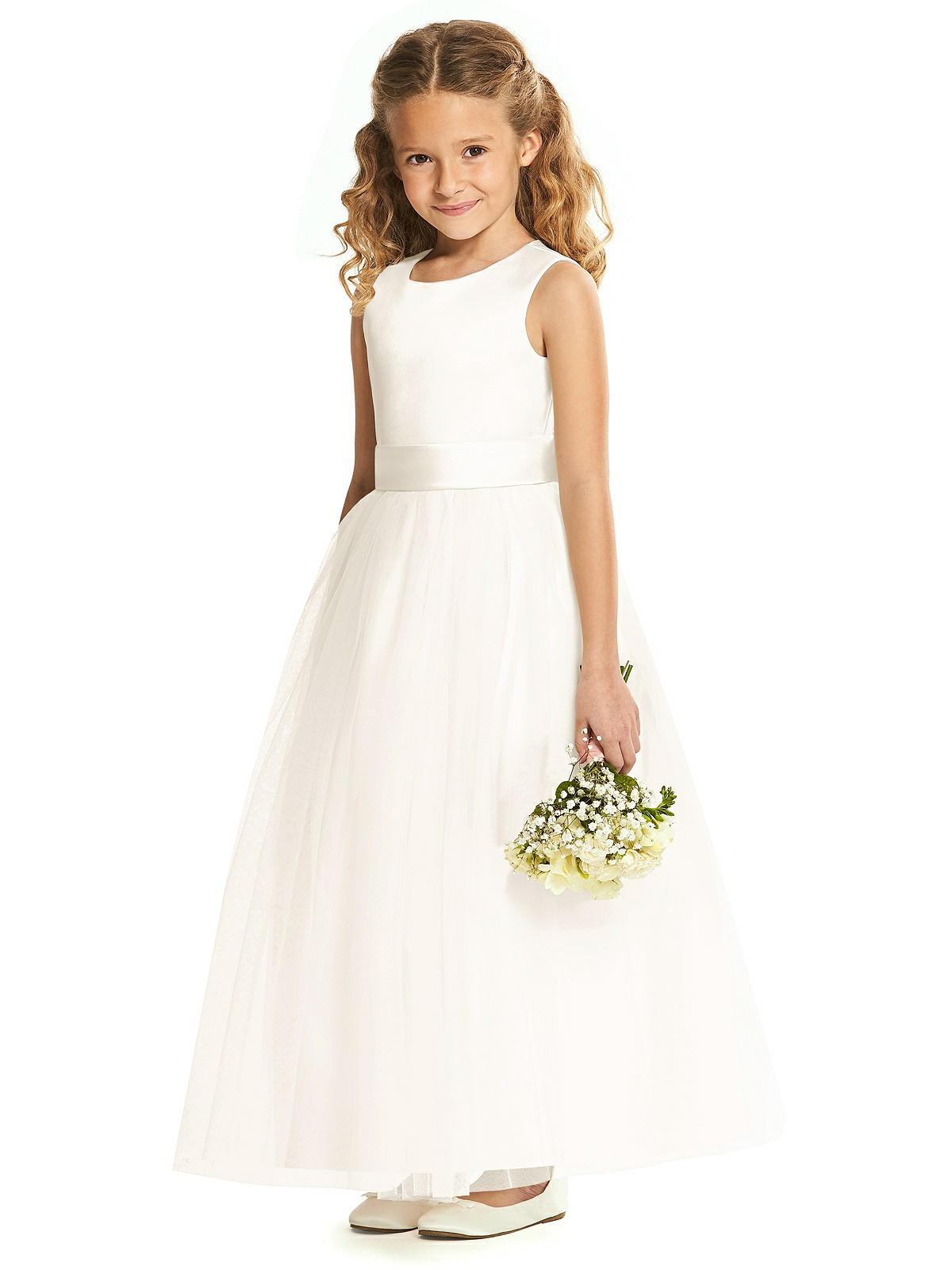0ff82097d3 Rose Gold And Blush Flower Girl Dress