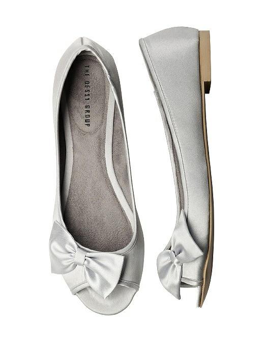45ee54b3d5bc0 Satin Peep Toe Bridal Ballet Wedding Flats